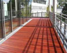 Balkon aus Massaranduba