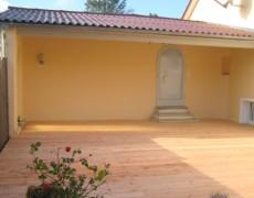 Terrasse und Sichtschutz