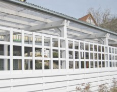 Carport in weiß